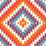 Ethnic style seamless pattern with chevron lines. Native americans ornament. Tribal motif. Colorful mosaic wallpaper. Ethnic style seamless pattern with chevron Royalty Free Stock Image
