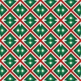 Ethnic style seamless pattern in Christmas colors with geometric figures. Native americans ornament. Tribal motif. Ethnic style seamless pattern in Christmas vector illustration