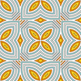 Ethnic style seamless pattern with floral motif. Blue and yellow colors abstract background. Tribal ornament. Boho chic digital paper, textile print, page fill Royalty Free Stock Photo