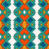 Ethnic style seamless pattern with geometric figures. Native americans ornamental abstract background. Tribal motif. Boho chic digital paper, textile print Royalty Free Stock Images