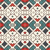 Ethnic style seamless pattern with geometric figures. Native americans ornamental abstract background. Tribal motif. Boho chic digital paper, textile print Royalty Free Stock Photo