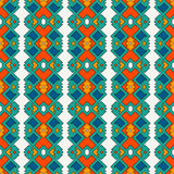 Ethnic style seamless pattern with geometric figures Stock Photos