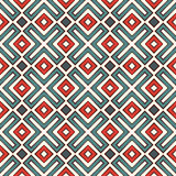 Ethnic style seamless pattern with geometric figures. Native americans ornamental abstract background. Tribal motif. Royalty Free Stock Photos