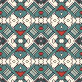 Ethnic style seamless pattern with geometric figures. Native americans ornamental abstract background. Tribal motif. Boho chic digital paper, textile print Royalty Free Stock Photos