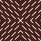 Ethnic style seamless pattern with geometric figures. Repeated stripes ornamental abstract background. Tribal motif. Stock Image