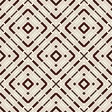 Ethnic style seamless pattern with geometric figures. Repeated stripes ornamental abstract background. Tribal motif. Stock Images