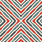Ethnic style seamless pattern with geometric figures. Repeated stripes ornamental abstract background. Tribal motif. Stock Photo