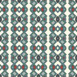 Ethnic style seamless pattern. Native americans abstract background. Tribal motif. Boho chic digital paper. Ethnic style seamless pattern with geometric figures Royalty Free Stock Images