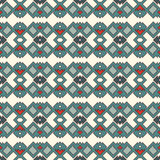 Ethnic style seamless pattern. Native americans abstract background. Tribal motif. Boho chic digital paper. Ethnic style seamless pattern with geometric figures Royalty Free Stock Photos