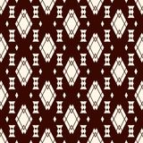 Ethnic style seamless pattern with repeated diamonds. Native americans background. Tribal motif. Eclectic wallpaper. Ethnic style abstract seamless pattern with Stock Image