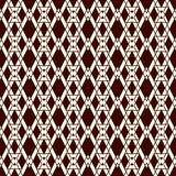Ethnic style seamless pattern with repeated diamonds. Native americans background. Tribal motif. Eclectic wallpaper. Ethnic style abstract seamless pattern with Royalty Free Stock Image