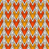 Ethnic style seamless pattern with repeated diamonds. Native americans background. Tribal motif. Eclectic wallpaper. Ethnic style abstract seamless pattern with Stock Photography