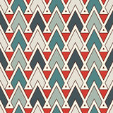 Ethnic style seamless pattern with repeated triangles. Native americans ornamental abstract background. Tribal motif. Boho chic digital paper, textile print royalty free illustration
