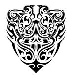 Tribal tattoo shape. Ethnic style tribal tattoo. Polynesian ethnic origin Stock Images