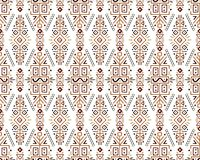 Ethnic Style Vector Seamless Pattern. Vector Seamless Pattern in Ethnic Style. Creative tribal endless ornament, perfect for textile design, wrapping paper royalty free illustration