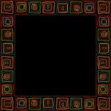 Ethnic stylized handmade frame with colored elements royalty free illustration