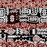 Ethnic stylized motifs, background pattern Royalty Free Stock Image