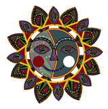 Ethnic sun. Sun of the various elements in the ethnic style on a white background Stock Photo