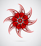 Ethnic sun ornament Royalty Free Stock Photography