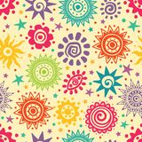 Ethnic sun pattern Royalty Free Stock Photos