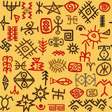 Ethnic symbols background Stock Images