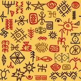 Ethnic symbols background Stock Images