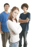Ethnic teen friends Royalty Free Stock Photos
