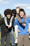 Ethnic teen friends Stock Image