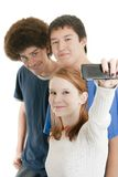 Ethnic teen friends Stock Images