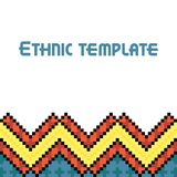 Vector ethnic frame template Stock Photography