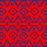 Ethnic texture with blue ornaments Royalty Free Stock Photography