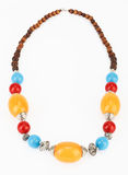 Ethnic Tibetan necklace with amber Stock Photos