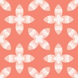 Ethnic Tiny Coral Flower Leaf Blooms All Over Print Vector. Ethnic Tiny Coral Flower Leaf Blooms. All Over Print Vector. Textured Floral Seamless Repeating royalty free illustration