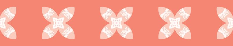 Ethnic Tiny Coral Flower Leaf Blooms. All Over Print Vector. Textured Floral Seamless Repeating Pattern Background. Drawn Fashion Print, Tribal Background royalty free illustration