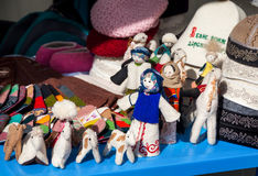 Ethnic toys in the market Stock Photo