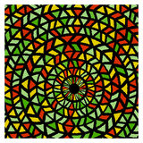 Ethnic traditional colorful bright round pattern Royalty Free Stock Images