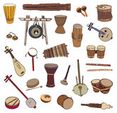 Ethnic traditional musical instruments Stock Image