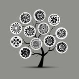 Ethnic tree with handmade ornament for your design Royalty Free Stock Photography