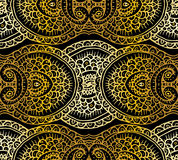 Ethnic tribal abstract background endless gold pattern in vector. Can be used for card, poster, label or web design. Royalty Free Stock Image
