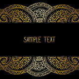 Ethnic tribal abstract background pattern frame in vector with place for your text for card, poster, web design. Royalty Free Stock Images