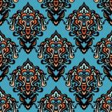 Ethnic Tribal Damask Seamless Pattern Background Royalty Free Stock Photography