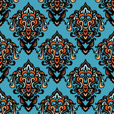 Ethnic tribal damask seamless pattern background Royalty Free Stock Photography