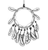 Ethnic tribal dream catcher with feathers Royalty Free Stock Photo