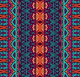 Seamless geometric striped pattern. Ethnic tribal festive pattern for fabric. Abstract geometric colorful seamless pattern ornamental. Mexican design Royalty Free Stock Image