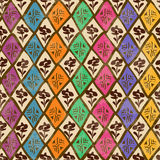Ethnic tribal geometric seamless pattern Royalty Free Stock Photo