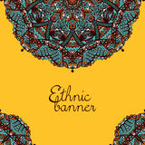 Ethnic Tribal Mandala Pattern Banner Stock Images