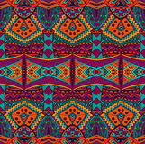 Ethnic tribal ornamental pattern colorful Stock Photo