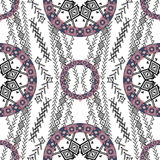 Ethnic tribal pattern in boho style Royalty Free Stock Image