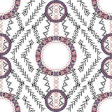 Ethnic tribal pattern with geometric ornaments Royalty Free Stock Images
