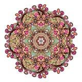 Ethnic tribal round ornament. Colorful mandala for meditation. Royalty Free Stock Photography